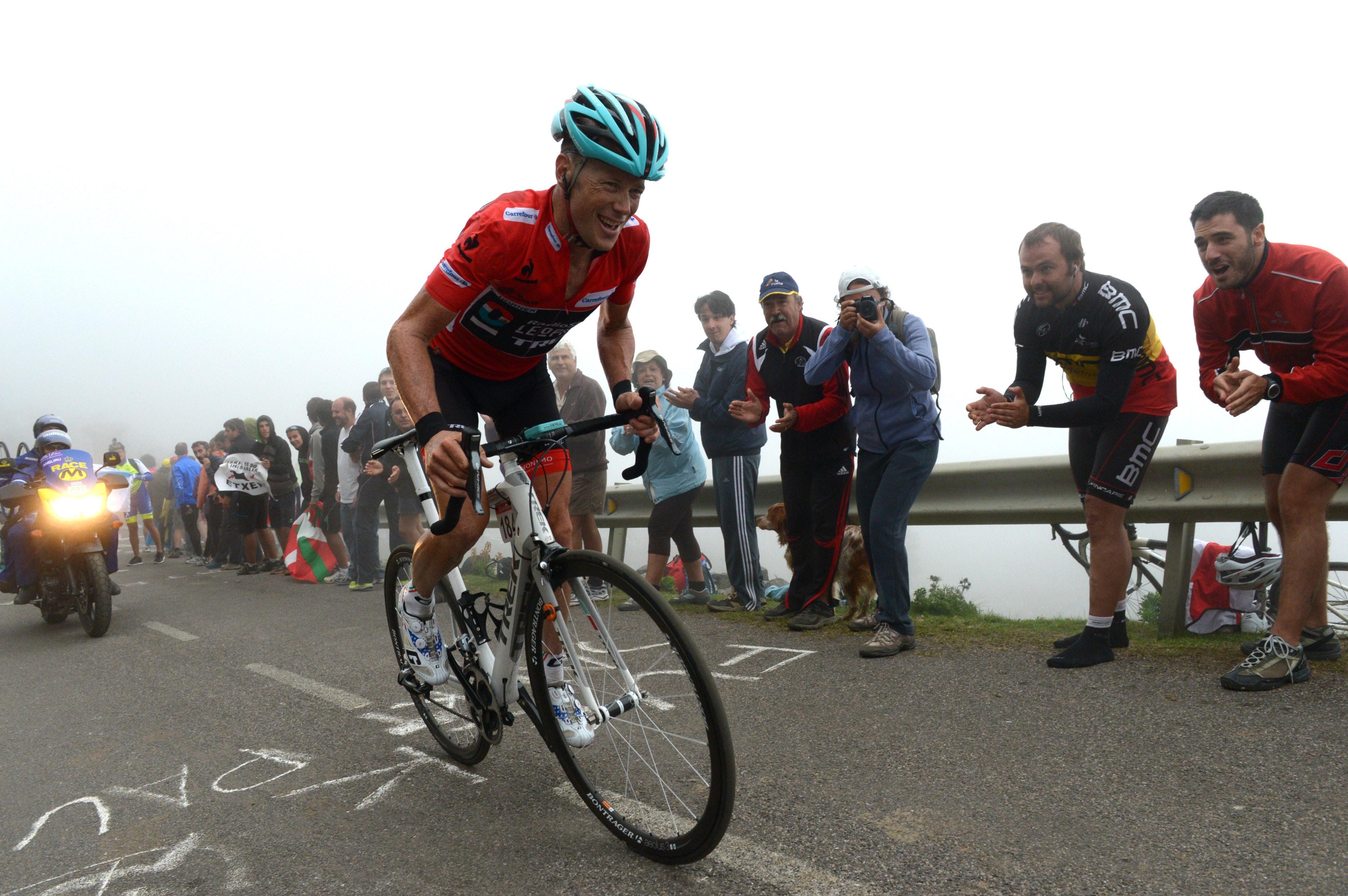 Christopher Horner, Radioshack Leopard, red jersey, Algiru, Vuelta a Espana, 2013, pic: Sirotti