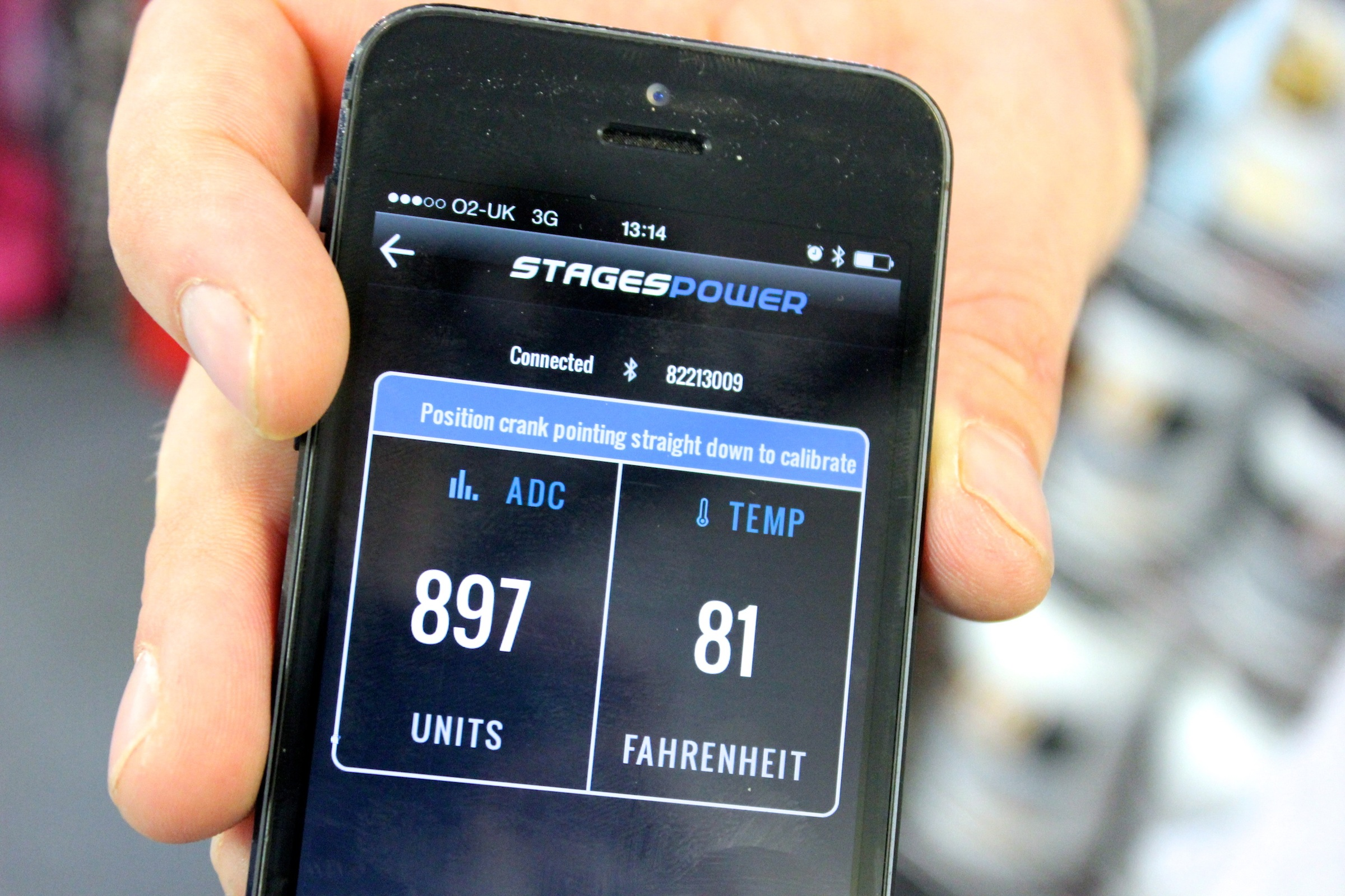 Stages power meter, iPhone App, pic: Timothy John, ©Factory Media