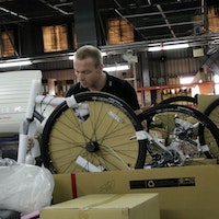 Sir Chris Hoy, HOY Bikes, factory visit (Pic: HOY Bikes, submitted by Gareth Evans)