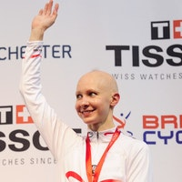 Jo Rowsell, Track World Cup, 2013/14, UCI, Manchester, Individual Pursuit, podium., medal