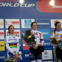 Cyclo-cross, world cup, 2013/14, podium, Namur, Marianne Vos, Katie Compton, Nikki Harris