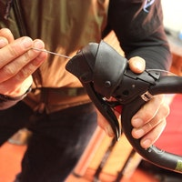 RoadCyclingUK winter bike build 2013, Kinesis GF_Ti V2, SRAM Rival shifter
