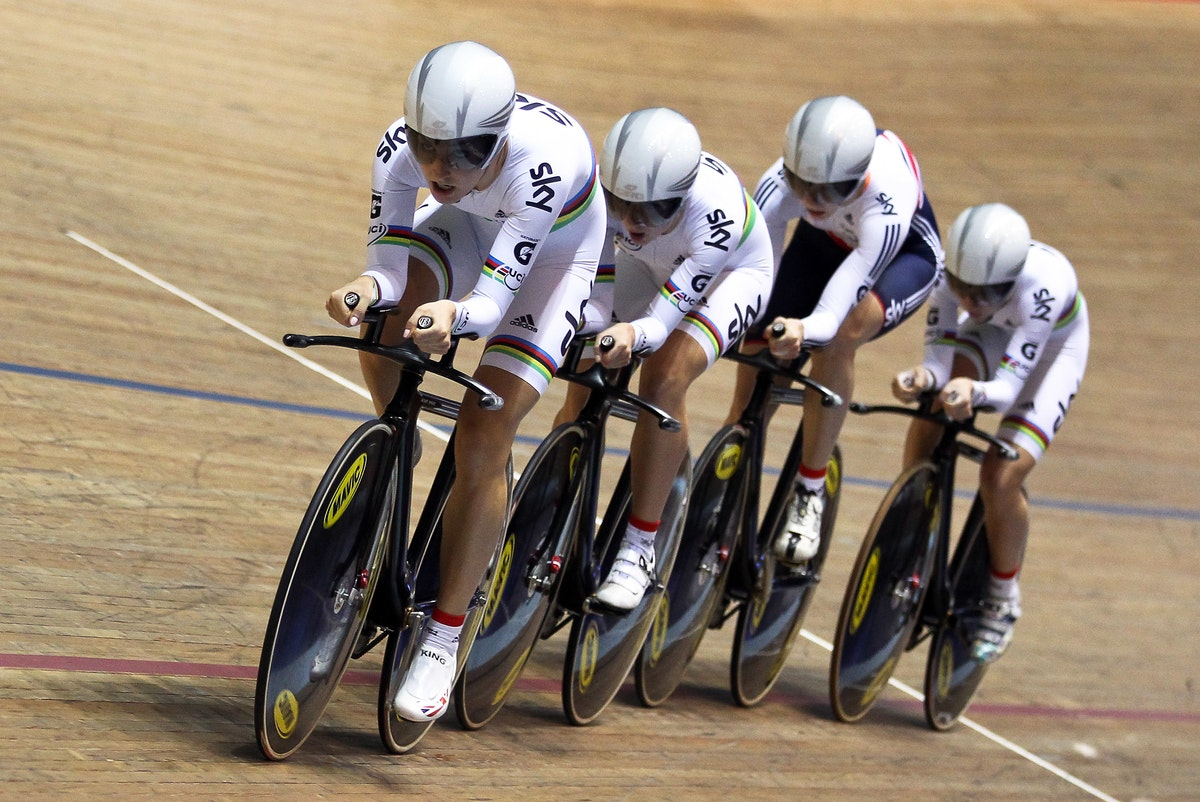 UCI Track Cycling World Cup, team pursuit, Great Britain, pic: Alex Whitehead/SWpix.com