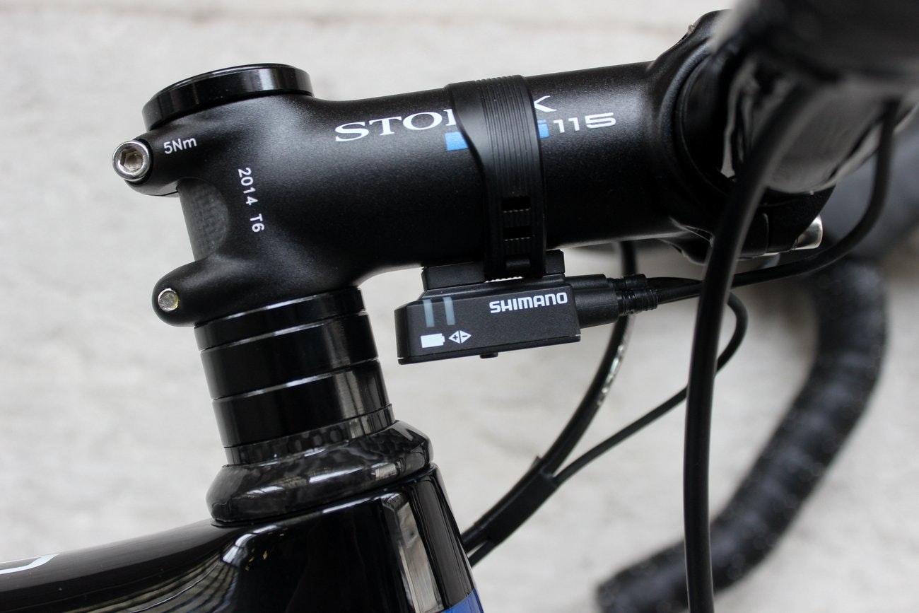 Storck Aernario Basic road bike - stem and Shimano Ultegra Di2 control box (Pic: George Scott/Factory Media)