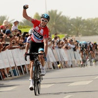 Chris Froome, Team Sky, 2013, Tour of Oman, red jersey, pic: Bruno Bade/ASO