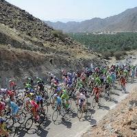 Peloton, Tour of Oman 2014, stage four, pic: ASO/Bruno Bade