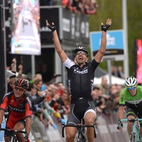 Fabian Cancellara, Tour of Flanders 2014, victory salute, pic: ©Sirotti