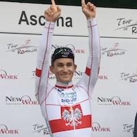 Michal Kwiatkowski, Omega Pharma-Quickstep, podium, Tour de Romandie, 2014, prologue, time trial, pic: Sirotti