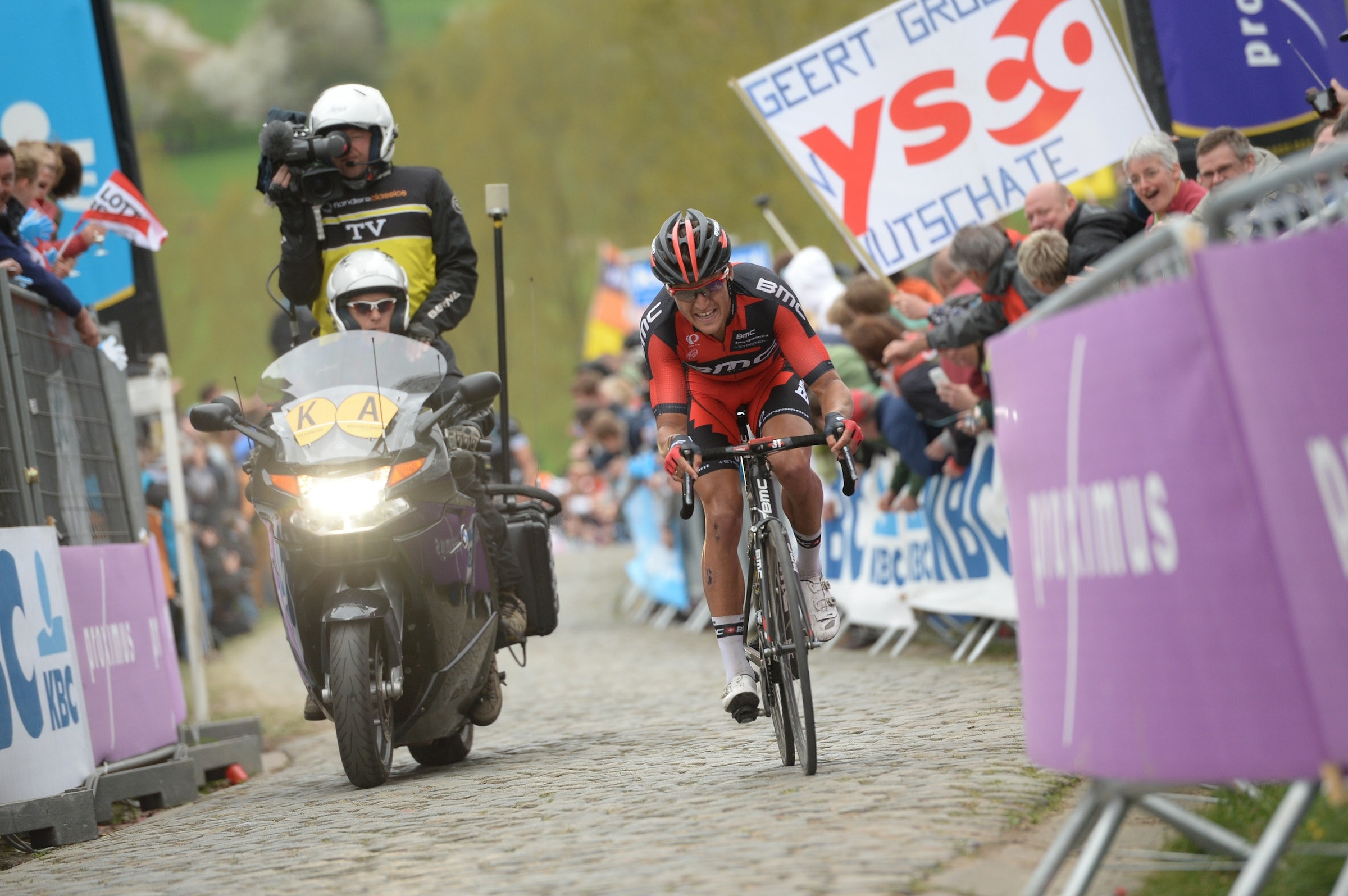 Greg Van Avermaet, Tour of Flanders 2014, Kwaremont, pic: ©Sirotti