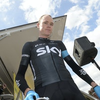 Chris Froome, Team Sky, Tour de Romandie, 2014, stage two, pic: Sirotti