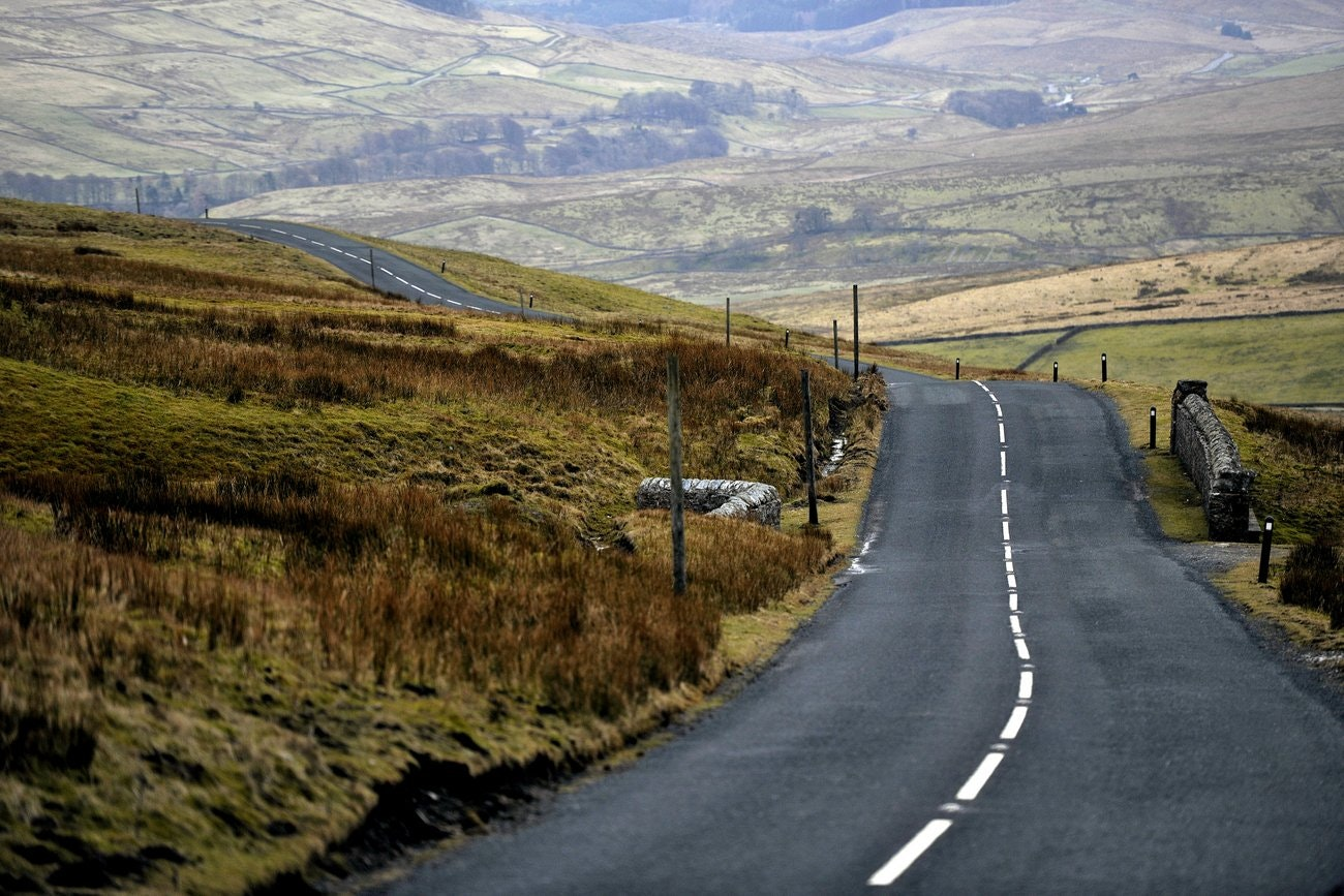 Buttertubs Pass, stage one, Tour de France 2014, Yorkshire, climb (Pic: Simon Wilkinson/SWPix.com)