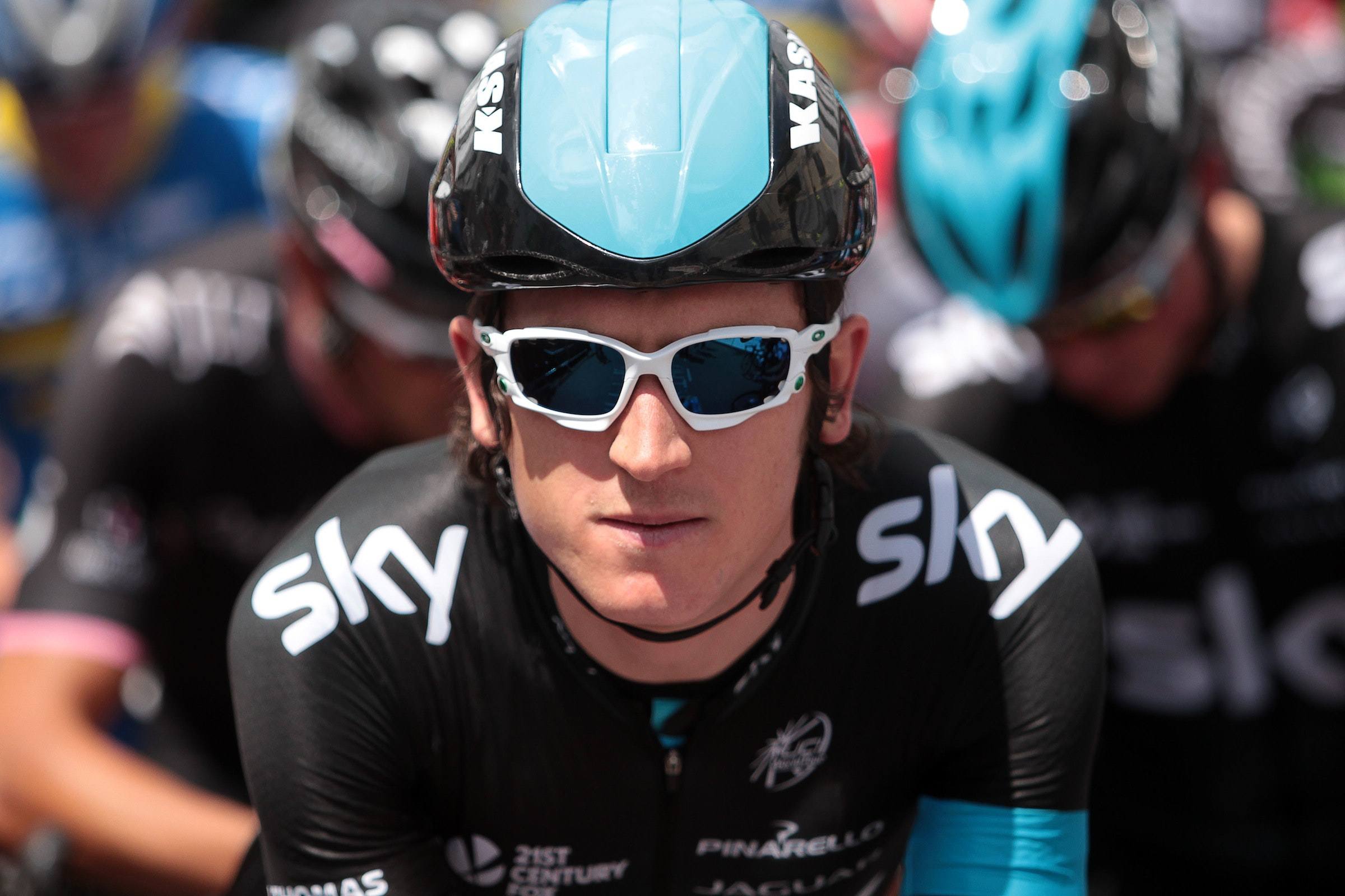 Geraint Thomas, British road race championships, Monmouth 2014, pic: ©Huw Evans Picture Agency, used with permission