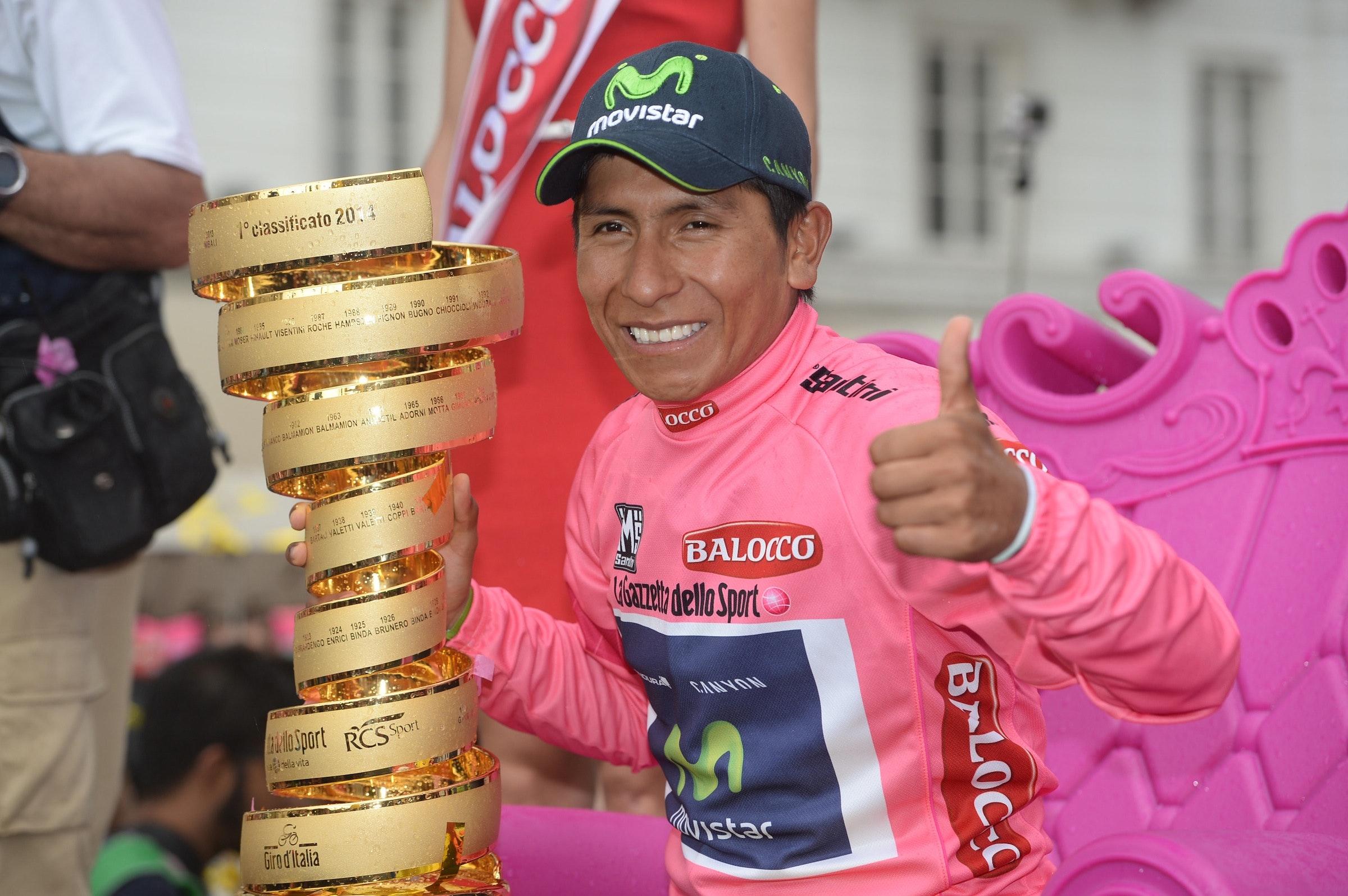 Nairo Quintana, Senza Fine, Giro d'Italia 2014, stage 21, pic: ©Sirotti