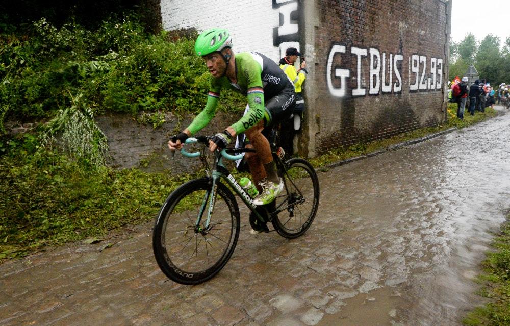 Lars Boom, Belkin, Tour de France, 2014, stage five, pic: Bruno Bade/ASO