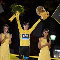 Chris Froome, yellow jersey, 2013, Tour de France, carousel, pic: SIrotti