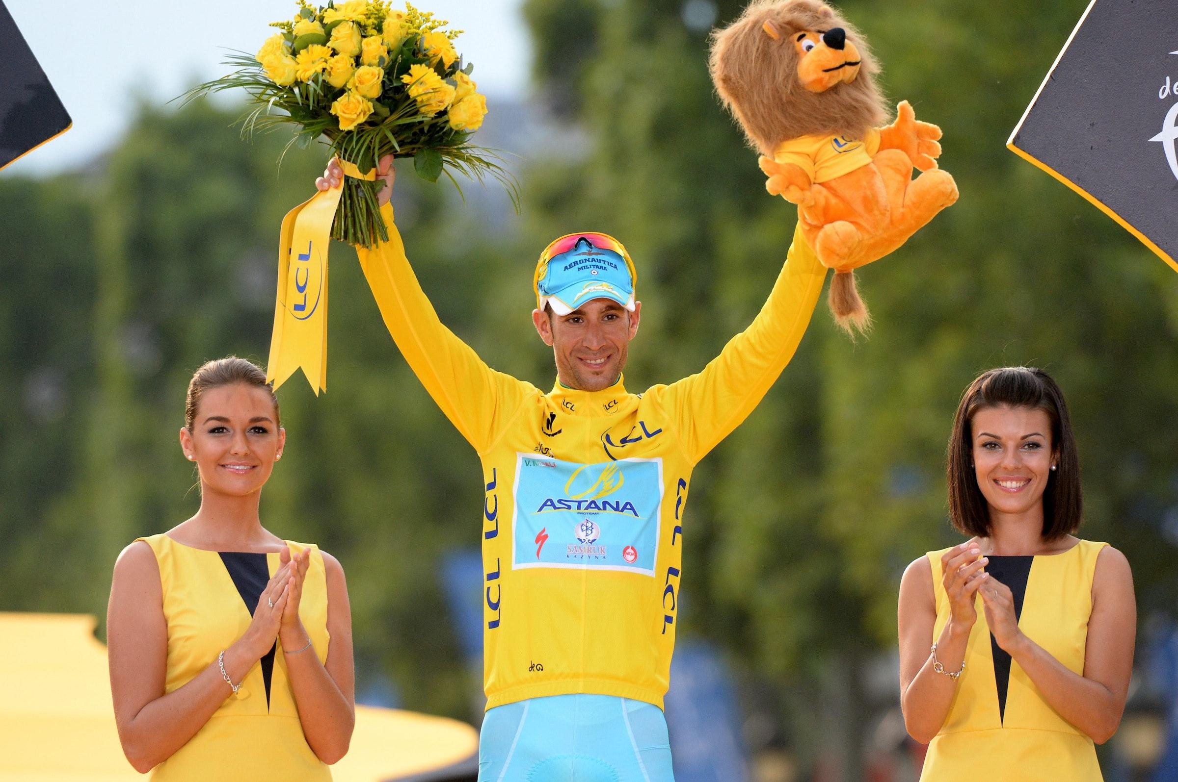 Vincenzo Nibali, Tour de France 2014, stage 21, podium, Paris, pic: ©Sirotti