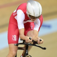 Joanna Rowsell, England, individual pursuit, 2014 Glasgow Commonwealth Games, pic: Alex Broadway/SWpix.com
