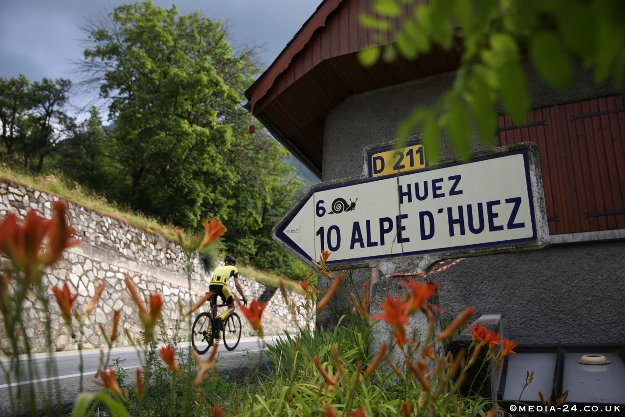 Alpe d'Huez sign, pic: ©Media-24, submitted by Mike Cotty, used with permission