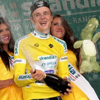Petr Vakoc, yellow jersey, Tour of Poland, stage three, 2014, pic: Sirotti