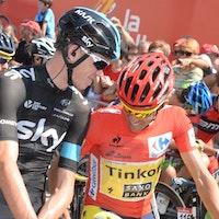 Chris Froome, Alberto Contador, Vuelta a Espana, 2014, pic: Sirotti