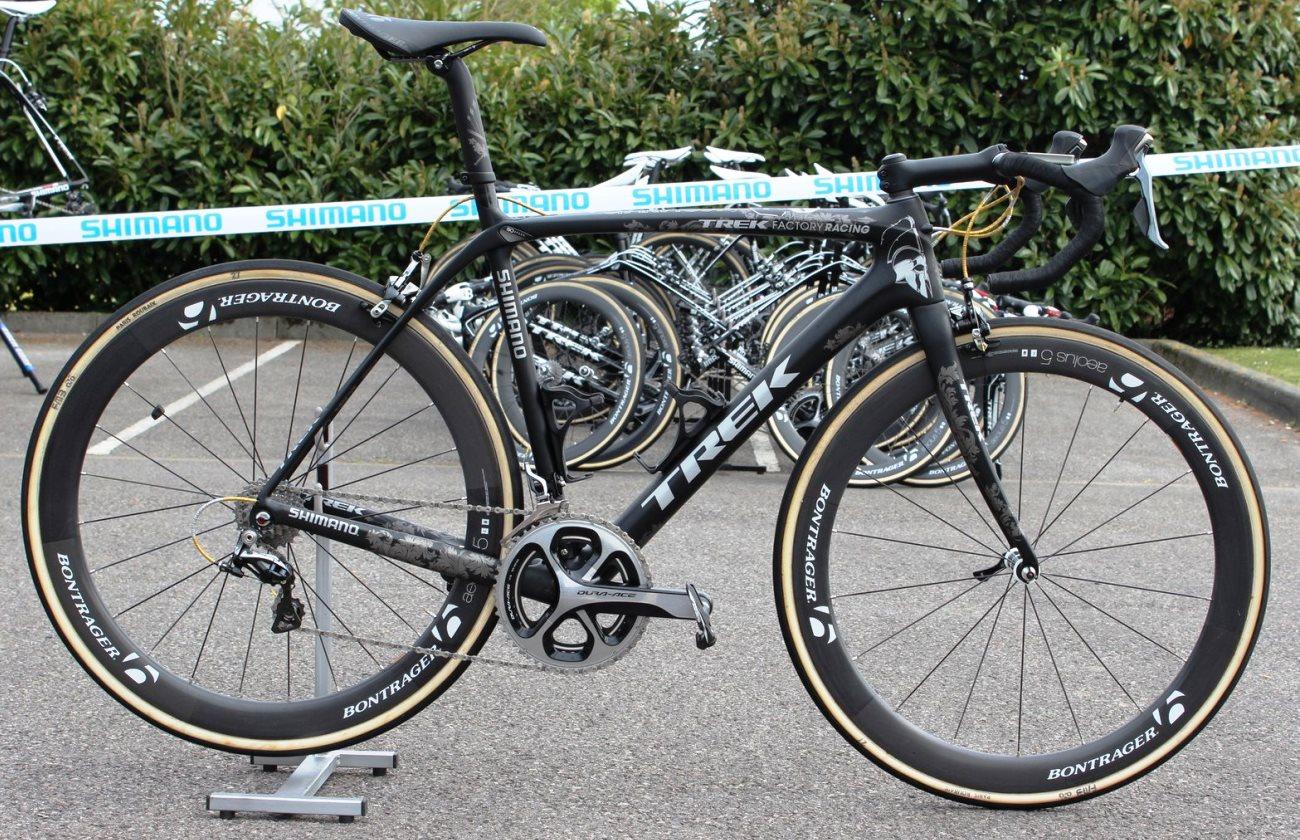 Pro bike: Fabian Cancellara's Trek Domane Classics Edition at Paris-Roubaix 2014 (Pic: George Scott/Factory Media)