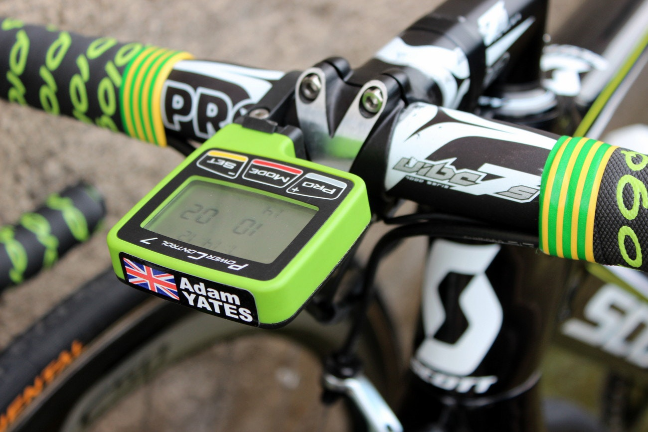 Pro bike: Adam Yates' Scott Foil - SRM Power Control 7 computer (Pic: George Scott/Factory Media)