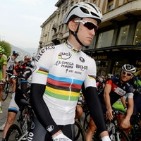 Michal Kwiatkowski, world champion, Giro di Lombardia, rainbow jersey, Omega Pharma-Quickstep, 2014, pic: Sirotti