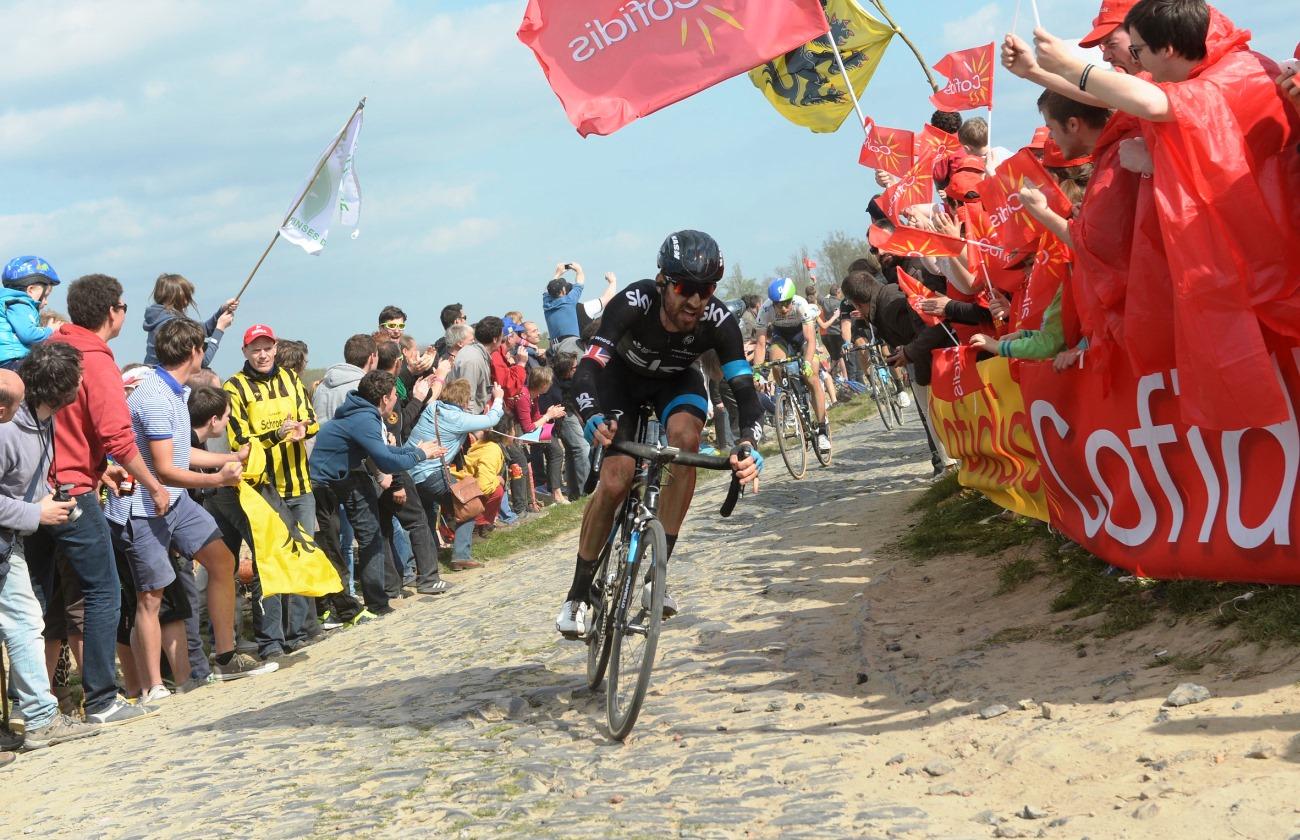 Bradley Wiggins, Team Sky, Paris-Roubaix, 2014, pic: Sirotti