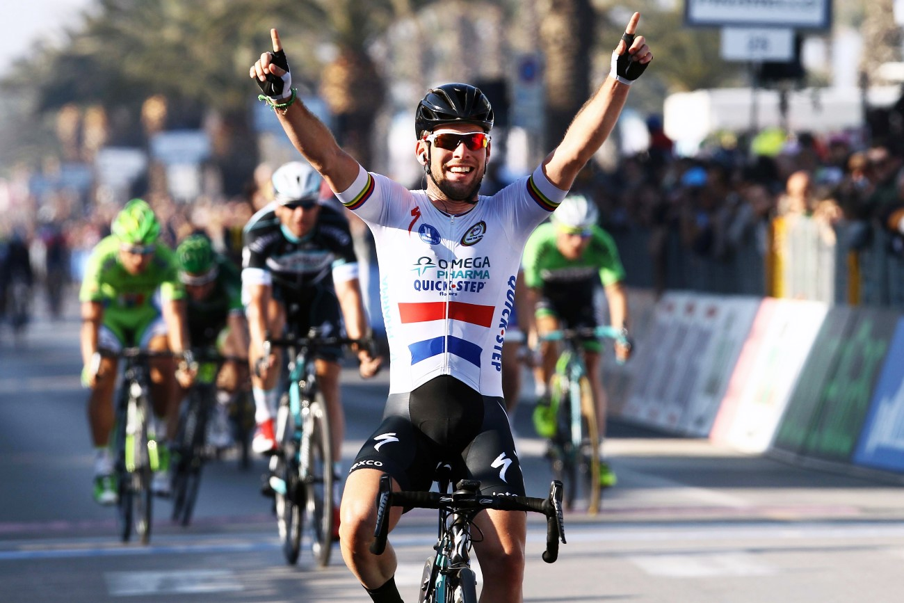 Cycling: Tirreno Adriatico 2014/ Stage 6, Mark Cavendish, Omega Pharma-Quickstep, pic: Sirotti