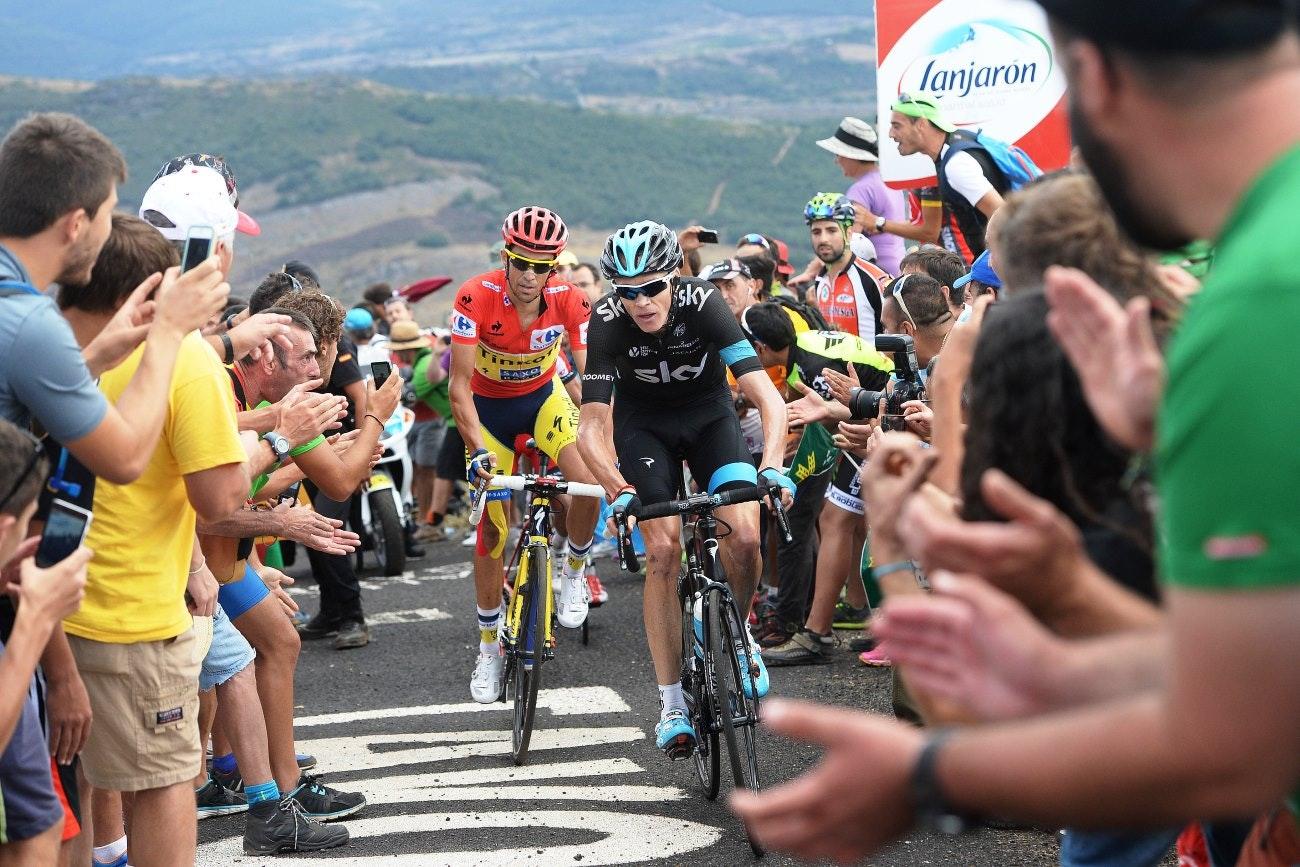 Chris Froome, Alberto Contador, pic: Sirotti