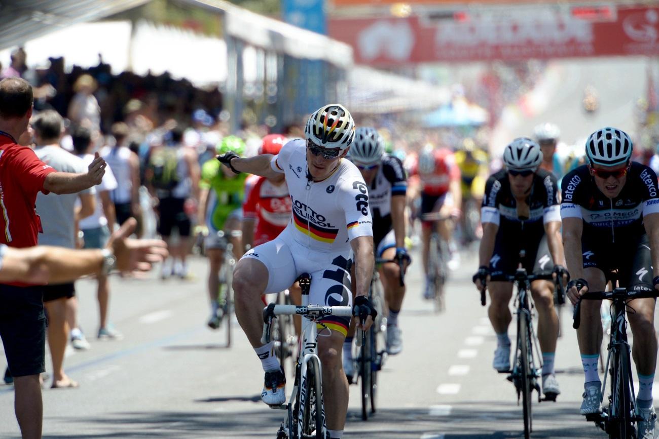 Andre Greipel, Lotto-Belisol, Tour Down Under, 2014, pic: Sirotti