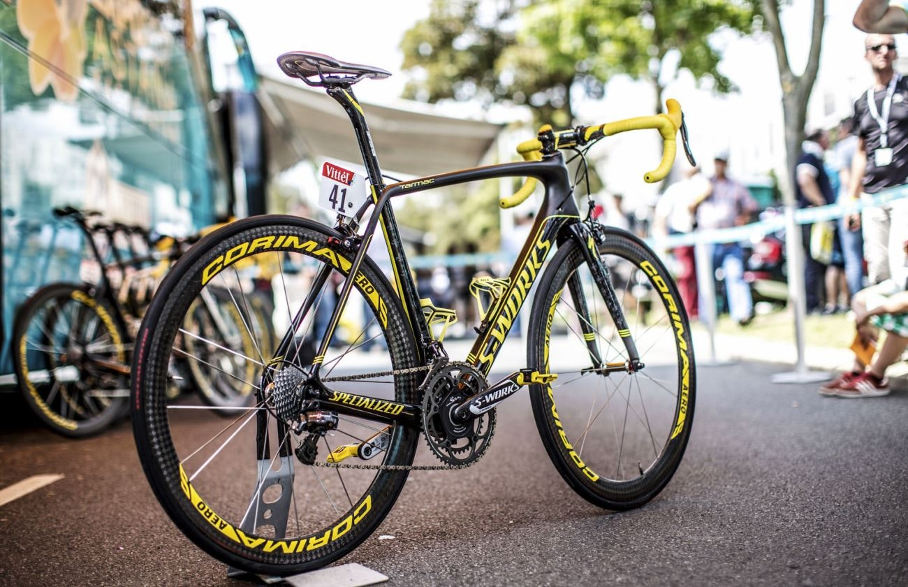 Vincenzo Nibali, Specialized S-Works Tarmac SL4, pic: Brakethrough Media