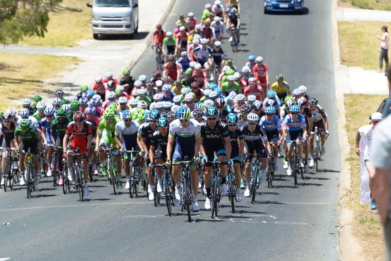 Peloton, Tour Down Under, 2014, pic: Sirotti