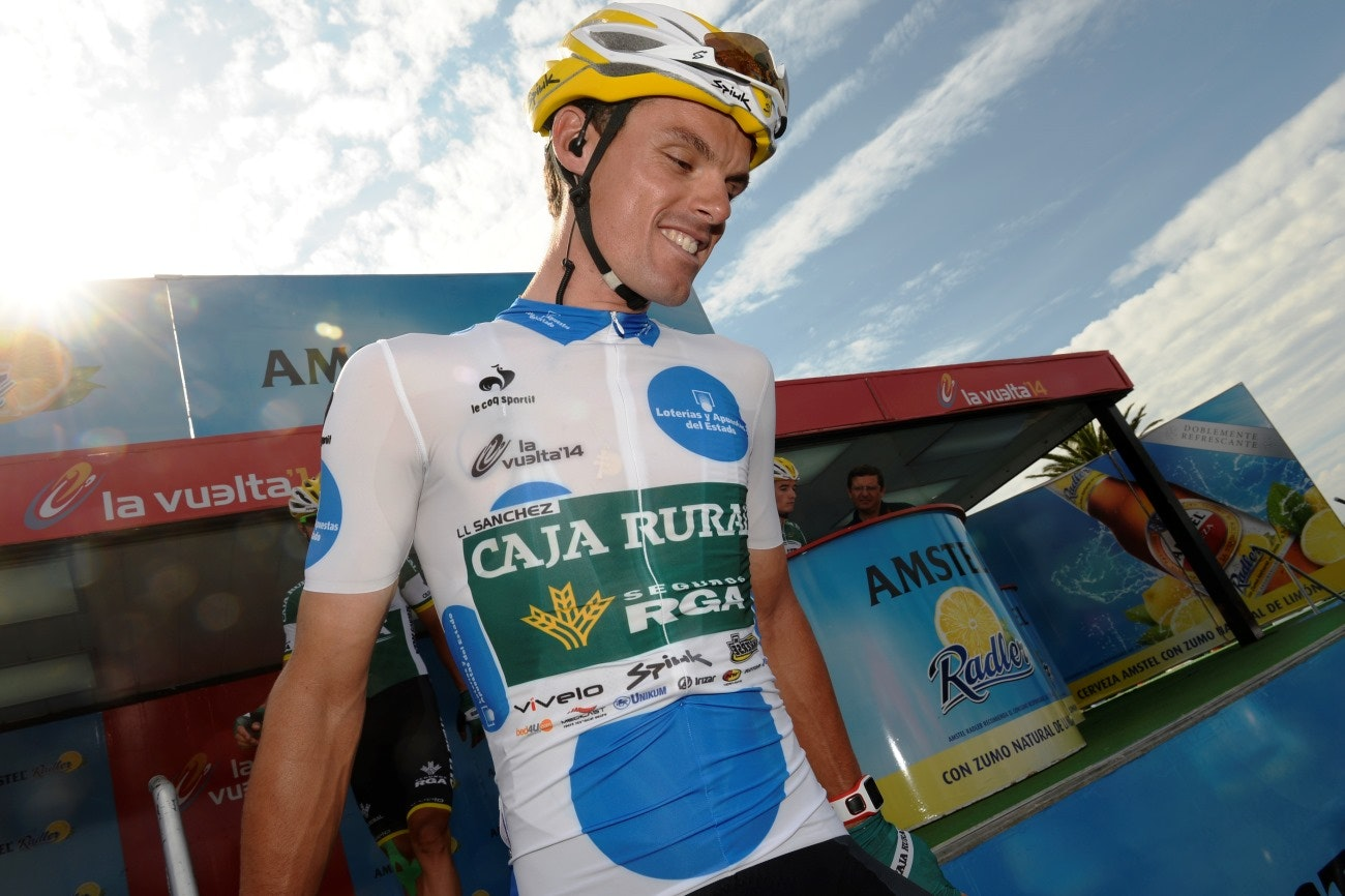 Luis Leon Sanchez, Caja Rural, King of the Mountains, Vuelta a Espana, 2014, pic: Sirotti