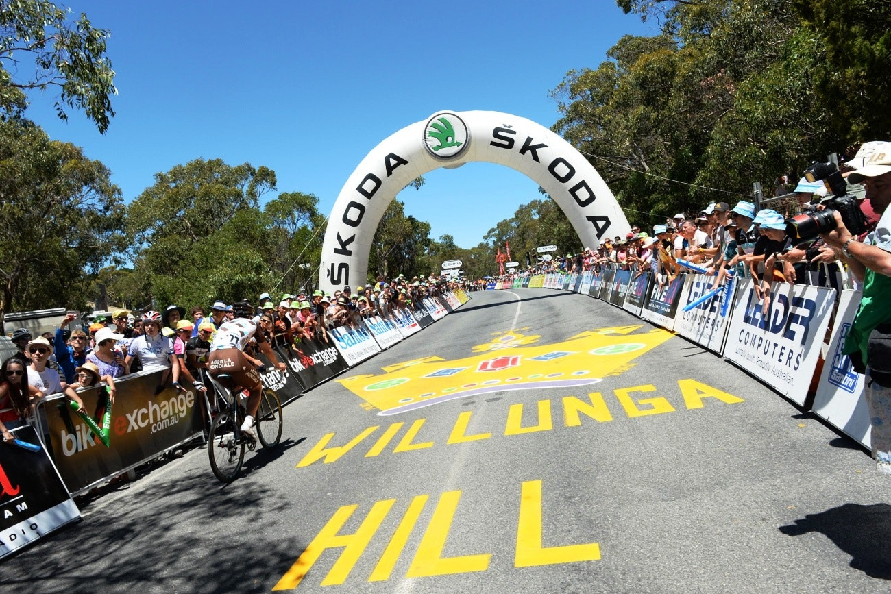 Old Willunga Hill, Tour Down Under, climb, 2014, pic: Sirotti