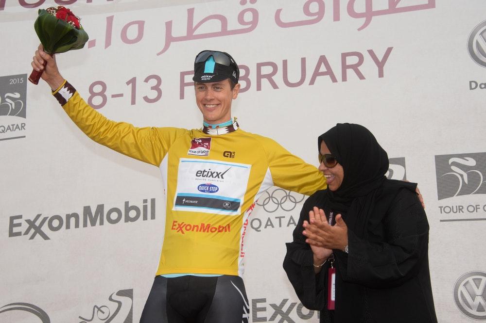 Niki Terpstra, Tour of Qatar, 2015, pic: Bruno Bade/ASO