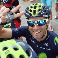 Alejandro Valverde, Movistar, Dubai Tour, 2015, pic: Claudio Peri/ANSA