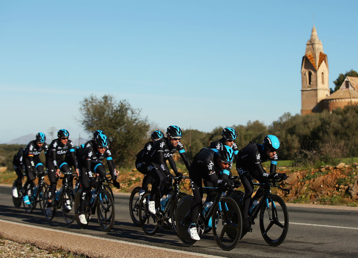 Team Sky, recovery ride, time trial bike, group ride, training