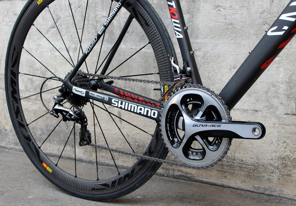 Canyon Ultimate CF SLX, Shimano Dura-Ace groupset, chainrings, derailleurs