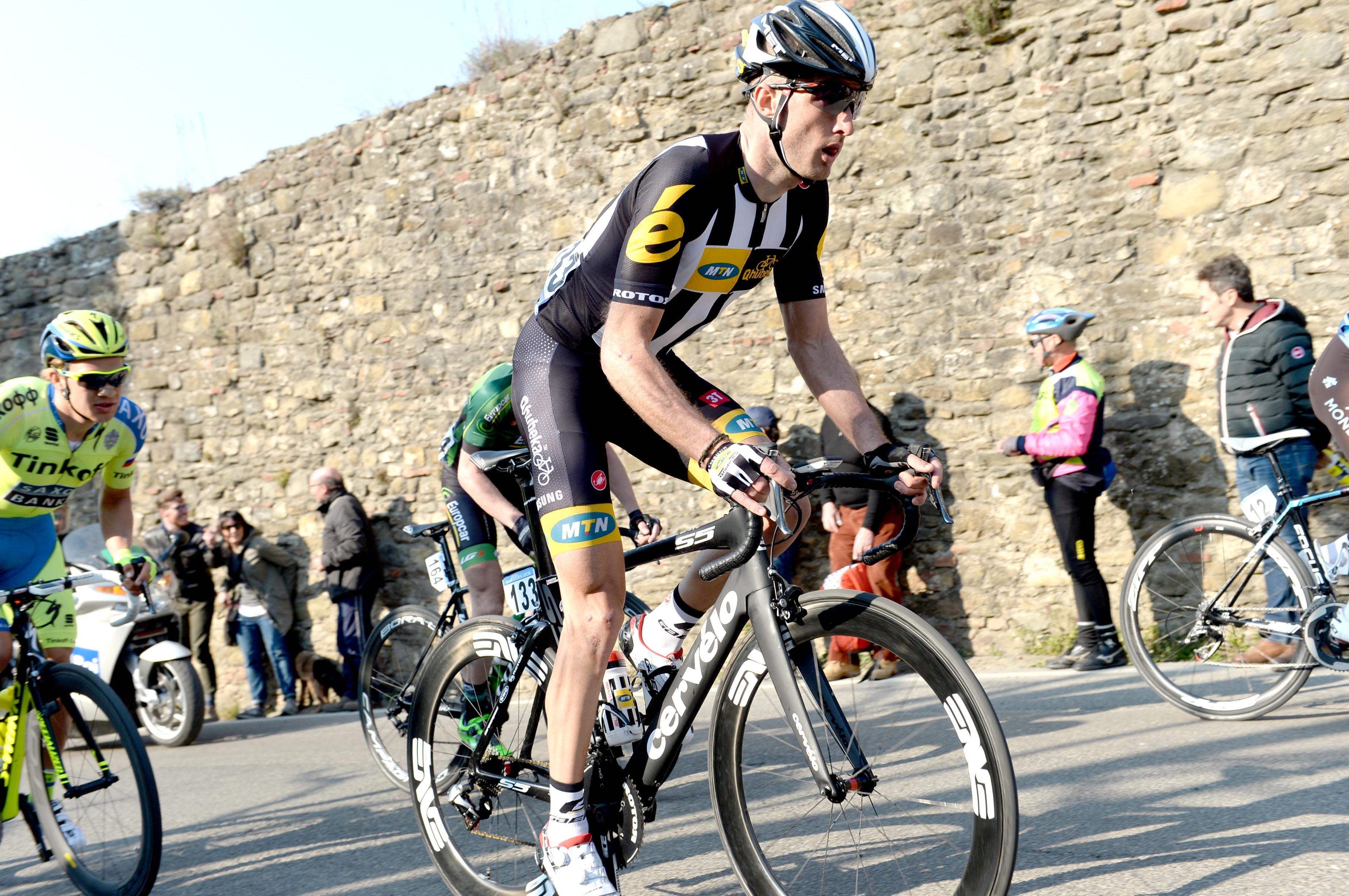 Steve Cummings, MTN-Qhubeka, 2015, climbing, Tirreno-Adriatico, stage five, 2015, pic: Sirotti