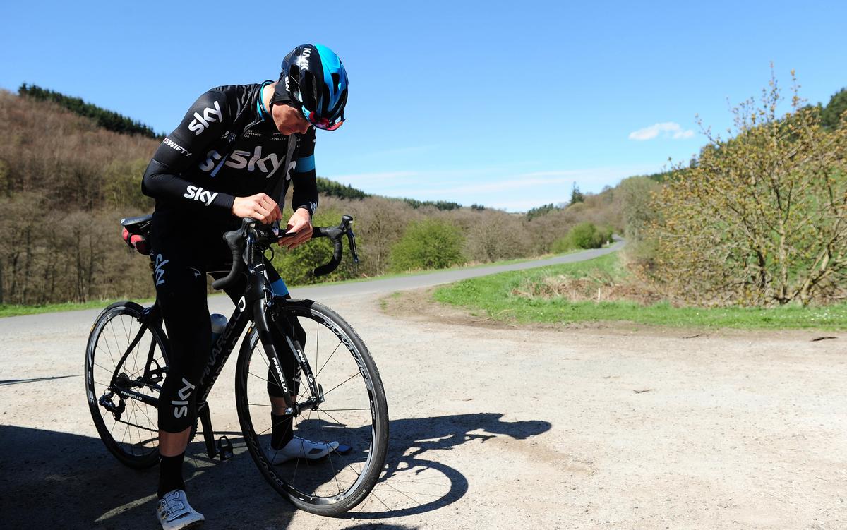 Ben Swift, training, recon, Tour de Yorkshire, stage one, route, pic: Simon Wilkinson/SWpix.com