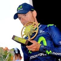 Alejandro Valverde, Movistar, 2014, podium, La Fleche Wallonne, pic: Sirotti