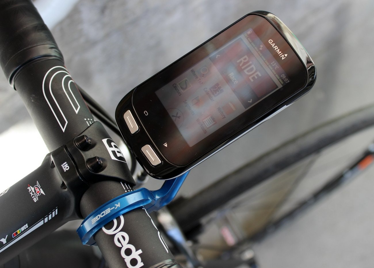 K-Edge XL out-front computer mount for Garmin Edge 1000 (Pic: George Scott/Factory Media)