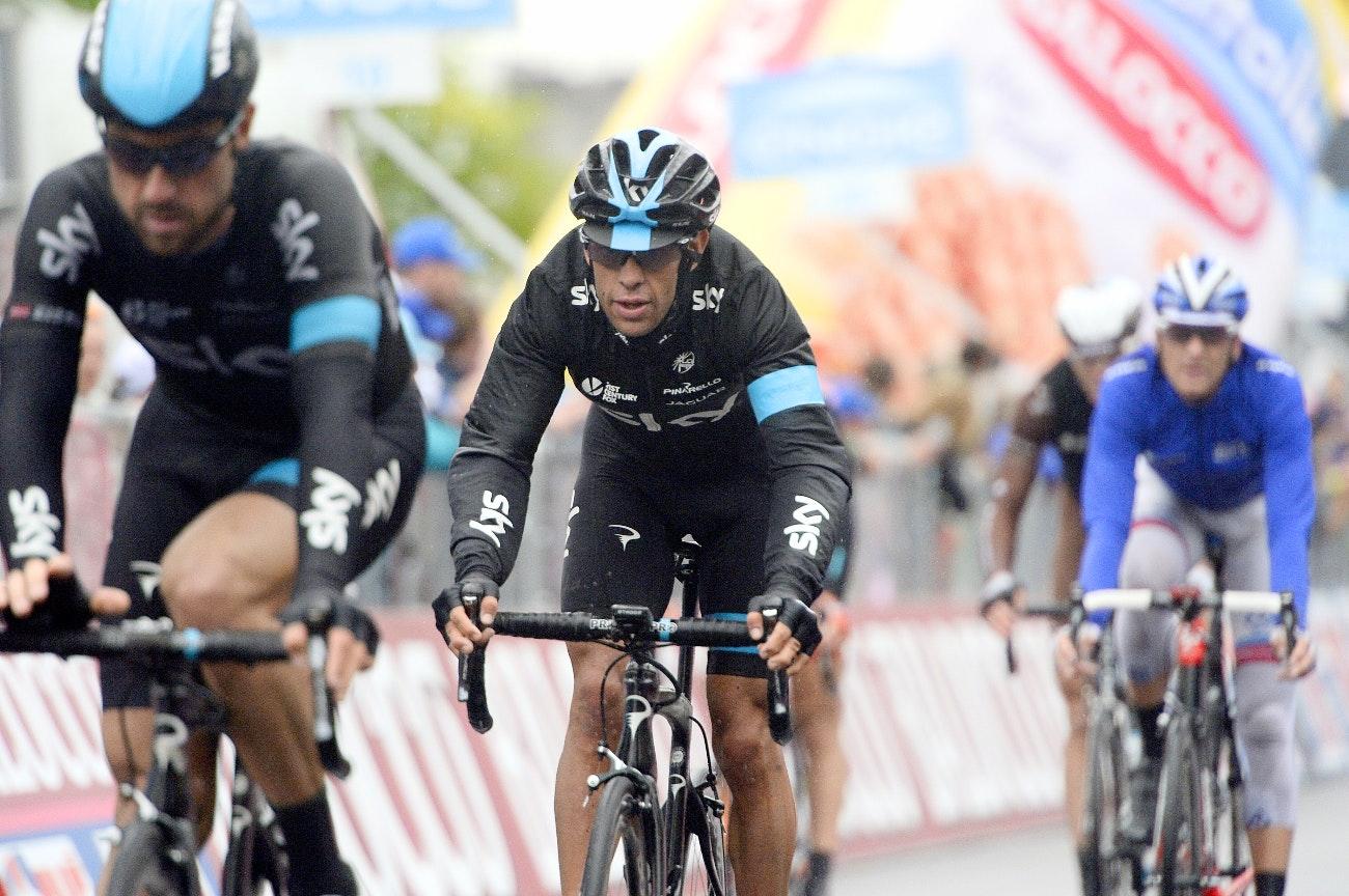 Richie Porte, Team Sky, Giro d'Italia, 2015, rain, pic: Sirotti