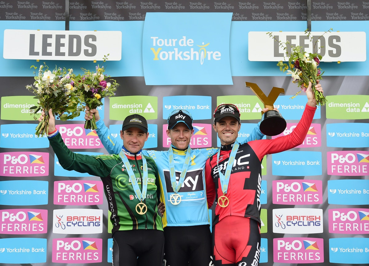Tour de Yorkshire, 2015, podium, pic: Alex Broadway/SWpix.com