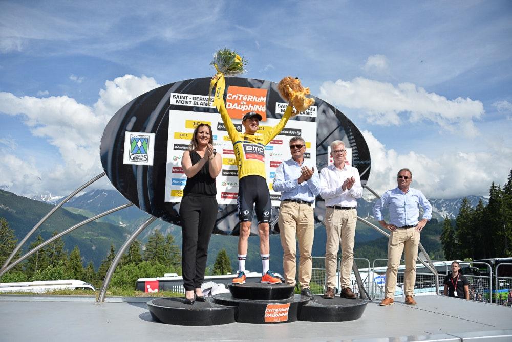 Tejay van Garderen, yellow jersey, Criterium du Dauphine, 2015, pic: X.Bourgois/ASO