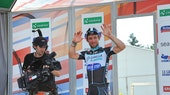 Mark Cavendish, TV camera, podium, Tour de Suisse, 2014, pic: Sirotti