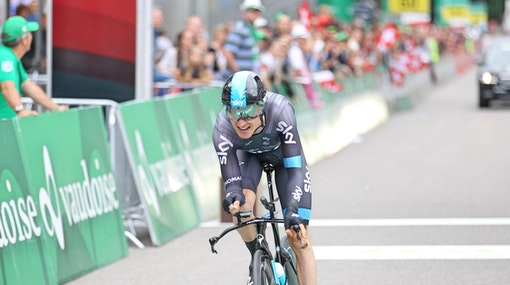 Geraint Thomas, Team Sky, time trial, Tour de Suisse, FTP, pic: Sirotti
