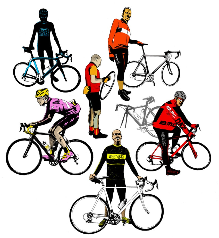 Six types of sportive rider