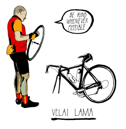 Six types of sportive rider: The Velai Lama